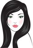 Beauty woman face. Illustration vector illustration