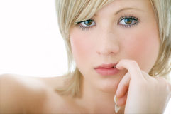 Beauty woman face Stock Photography