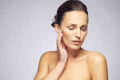 Beauty woman face with clean healthy skin Royalty Free Stock Photo