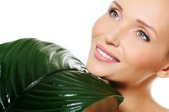 Beauty woman face with clean skin Stock Image