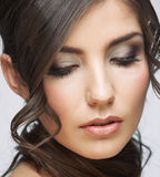 Beauty woman face close up portrait Royalty Free Stock Photos