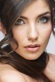 Beauty woman face close up portrait. Light make up. Royalty Free Stock Photos