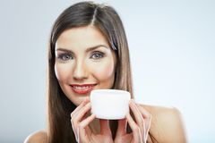 Beauty woman face. Cosmetic skin care. Royalty Free Stock Image