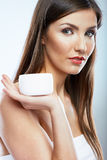 Beauty woman face. Cosmetic skin care. Stock Photo