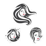 Beauty Woman Face Hair Set Stock Images