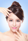 Beauty of a woman face Royalty Free Stock Images