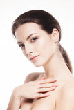 Beauty Woman face Portrait. Beautiful model Girl with Perfect Fresh Clean Skin Royalty Free Stock Images