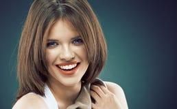 Beauty woman face portrait close up. Stock Photo