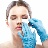 Beauty Woman face surgery close up portrait. Royalty Free Stock Photography