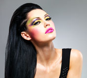 Beauty  woman with fashion makeup on  face Royalty Free Stock Image