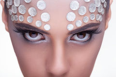 Beauty woman fashion rinhstone make up Stock Photos