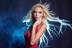 Beauty woman with flying healthy hair Stock Photography