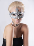 Beauty woman in foil mask Royalty Free Stock Images
