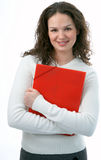 Beauty woman with folder Stock Photography