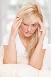 Beauty woman had headache Stock Photography