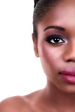Beauty Woman Half Face Royalty Free Stock Photography