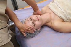Beauty woman having cosmetic massage Royalty Free Stock Photography