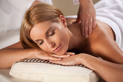 Beauty woman having relaxation massage Royalty Free Stock Images