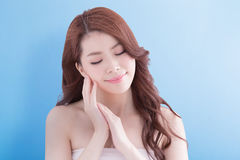 Beauty woman with health skin Royalty Free Stock Images