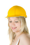 Beauty woman in helmet Royalty Free Stock Photo