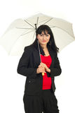 Beauty woman holding umbrella Stock Photography