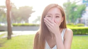 Beauty woman laugh excited Stock Image