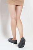 Beauty of a woman legs back view stock photo