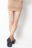 Beauty of a woman legs back view royalty free stock images