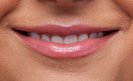 Beauty woman lips smile close-up Royalty Free Stock Photo