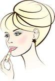 Beauty woman with lipstick Stock Photo