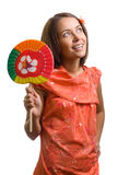 Beauty woman with lollipop Royalty Free Stock Images