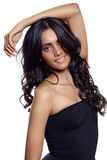 Beauty woman with long balck curly hair Stock Image