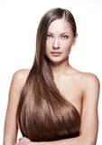 Beauty woman . long hair Stock Images