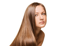 Beauty woman . long hair Royalty Free Stock Photography