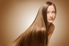 Beauty woman . long hair Royalty Free Stock Photo