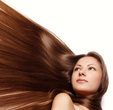 Beauty woman . long hair Stock Photo
