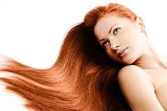 Beauty woman . long hair Royalty Free Stock Photos