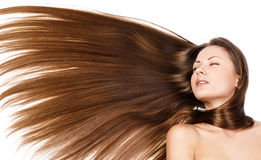 Beauty woman . long hair Stock Photos