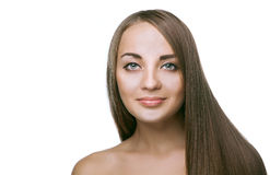 Beauty woman with long hair Royalty Free Stock Photography