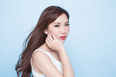 Beauty woman look you Royalty Free Stock Images