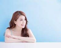 Beauty woman look you happily Stock Image