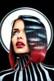 Beauty woman looks like Rihanna Royalty Free Stock Photos