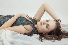 Beauty woman lying Stock Photography