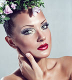 Beauty woman with makeup Stock Photo