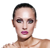 Beauty woman with makeup Royalty Free Stock Photos