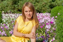 Beauty woman in nature Royalty Free Stock Photos