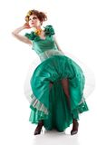 Beauty woman in old fashioned dress Stock Photo