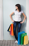 Beauty woman om shopping Stock Photos