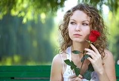 Beauty woman outdoor Royalty Free Stock Photo