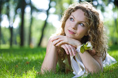 Beauty woman outdoor Royalty Free Stock Photos